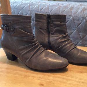 Clark's Gray Booties